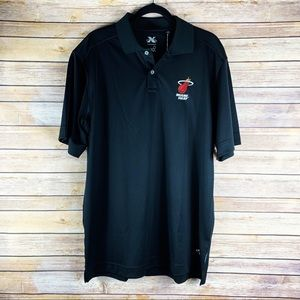 Callaway X-Series Miami Heat Short Sleeve Polo